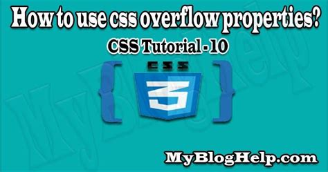 How to use css overflow property? CSS Tutorial 10