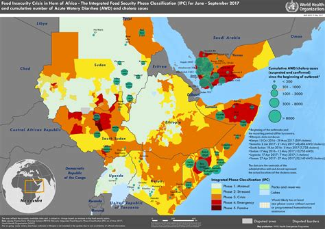 WHO   Disease maps of countries affected by food