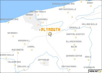 Plymouth (United States - USA) map - nona