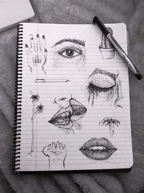 aesthetic, b&w, black and white, drawings, grunge