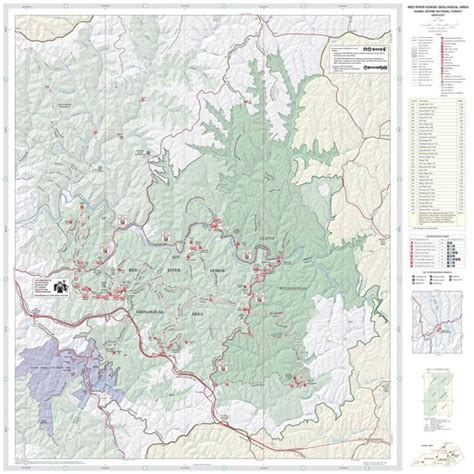 Red River Gorge Topo Map - Maplets