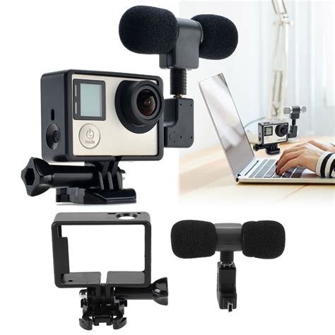 for Gopro Accessories Pro Mini Stereo Microphone