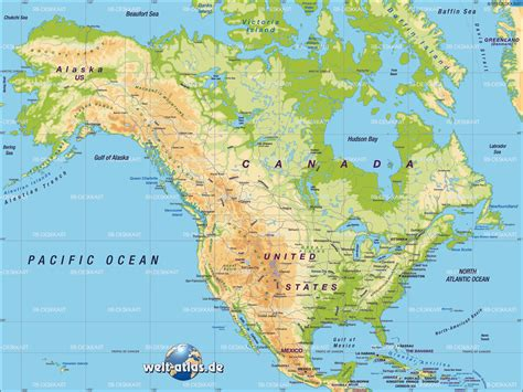 Map of North America (General Map / Region of the World