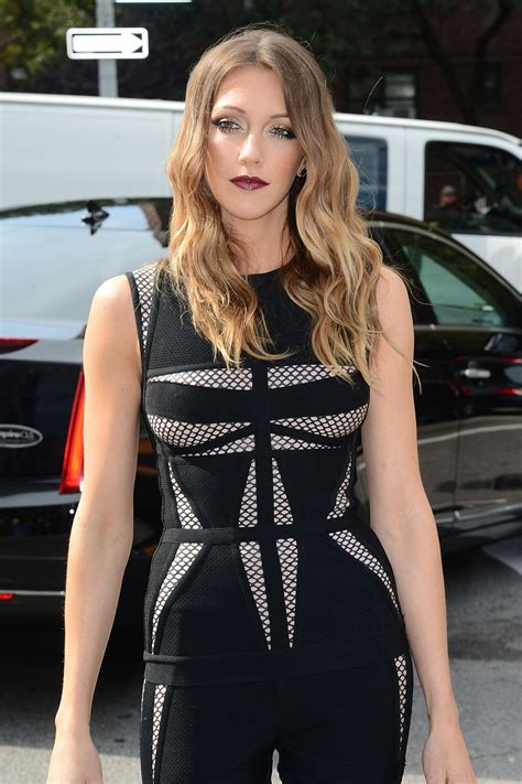 Katie Cassidy At Herve Leger By Max Azria Spring 2014