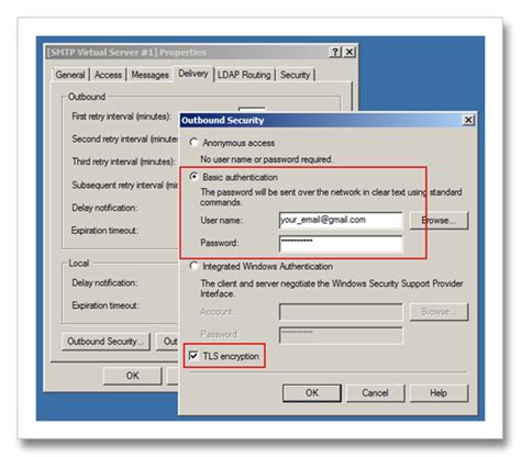 Configure SharePoint to send email using Gmail Account