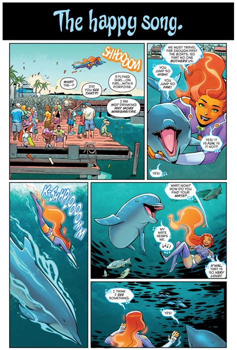 Starfire Rescues A Dolphin – Comicnewbies