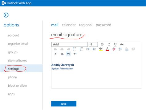 Angry Admin: How to Add an Email Signature in Outlook Web App